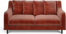 Habitat Swift 2 Seater Velvet Sofa - Orange