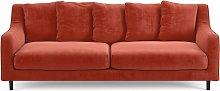 Habitat Swift 3 Seater Velvet Sofa - Orange