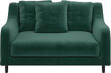 Habitat Swift Velvet Cuddle Chair - Emerald Green
