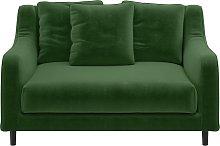 Habitat Swift Velvet Cuddle Chair - Moss Green