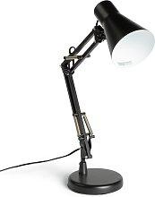 Habitat Swing Arm Desk Lamp - Matt Black