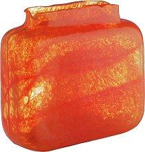 Habitat Tangelo Orange Bubble Rectangular Glass