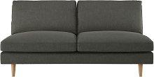 Habitat Teo 2 Seater Fabric Sofa - Charcoal