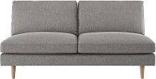 Habitat Teo 2 Seater Fabric Sofa - Grey
