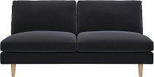 Habitat Teo 2 Seater Velvet Sofa - Charcoal