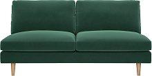Habitat Teo 2 Seater Velvet Sofa - Green