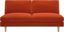 Habitat Teo 2 Seater Velvet Sofa - Orange