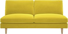 Habitat Teo 2 Seater Velvet Sofa - Yellow