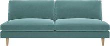 Habitat Teo 3 Seater Fabric Sofa - Teal