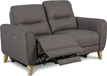 Habitat Tommy 2 Seater Fabric Recliner Sofa - Grey