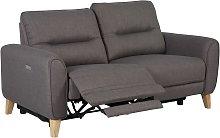 Habitat Tommy 3 Seater Fabric Recliner Sofa - Grey