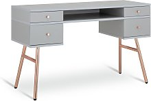 Habitat Valence 4 Drawer Pedestal Desk - Grey &