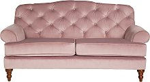 Habitat Valerie 2 Seater Velvet Sofa - Blush Pink
