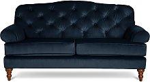 Habitat Valerie 2 Seater Velvet Sofa - Ink Indigo