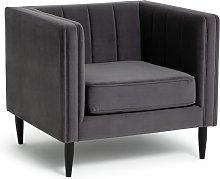 Habitat Vanessa Velvet Armchair - Grey