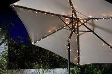 Habitat Warm White Parasol Solar String Lights