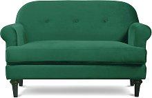 Habitat Whitney 2 Seater Velvet Sofa - Green