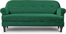 Habitat Whitney 3 Seater Velvet Sofa - Green