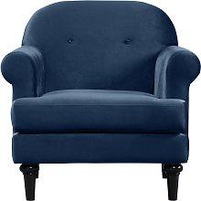 Habitat Whitney Velvet Armchair - Blue