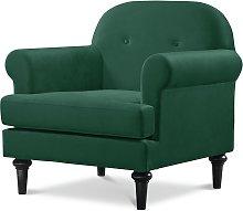 Habitat Whitney Velvet Armchair - Green