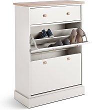 Habitat Winchester Shoe Cabinet & Drawer - Cream