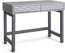 Habitat Zander 2 Drawer Desk - Grey Two Tone