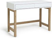 Habitat Zander 2 Drawer Desk - White Two Tone