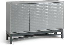 Habitat Zander Textured Large Sideboard - Grey