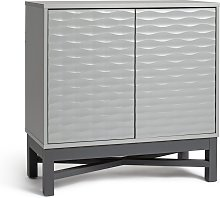 Habitat Zander Textured Small Sideboard - Grey