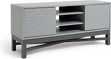 Habitat Zander Textured TV Unit - Grey