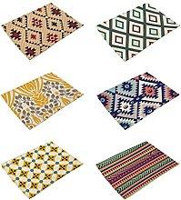 Hacaso Geometric Pattern Cotton Linen Placemats