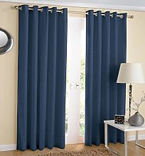 Hachette Thermal Blackout Curtains Eyelet Ring Top