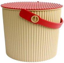 Hachiman - Small Beige Red Omnioutil Storage