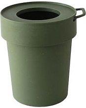 Hachiman - Tap Trash Bin With Lid Small Khaki