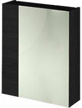 Hacienda Black 600mm Mirror Cabinet 75/25 Split