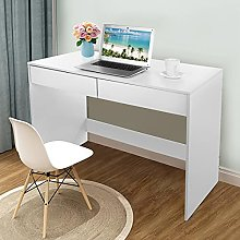 Hadaiis Computer Desk with 2 Drawers, 39.5 inches