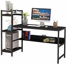 Hadaiis Computer Desk with 3-Tiers Bookshelves and