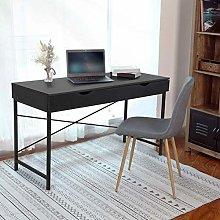 Hadaiis Computer Writing Desk with 2 Drawers,