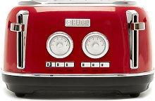 Haden 199386 Jersey 4 Slice Toaster - Red