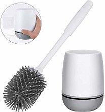 Hadishi Silicone Toilet Brush and Holder,Bathroom