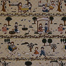 Hadson Craft Printed Cotton Beige Jane and Peter