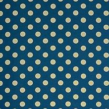 Hadson Craft Printed Cotton Blue Polka Dot Heavy