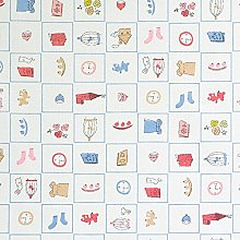 Hadson Craft Printed Cotton White Baby Icons Heavy