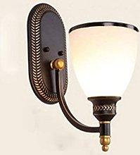 Hadunoi American Country Retro Wall Lamp Wrought