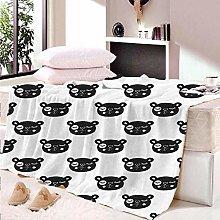 HAHAHAG Flannel Blanket Animal bear 3D Printing