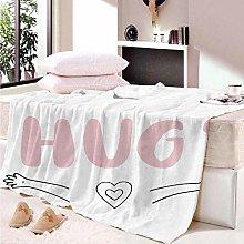 HAHAHAG Flannel Blanket Cartoon letters 3D
