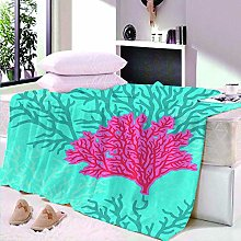 HAHAHAG Flannel Blanket coral 3D Printing Blanket,
