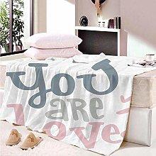 HAHAHAG Flannel Blanket letter 3D Printing