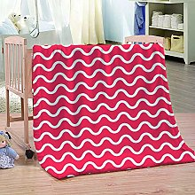 HAHAHAG Flannel Blanket Red white pattern 3D