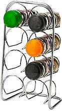 Hahn 18271008 Pisa 8 Jar Spice Rack, Chrome, Silver